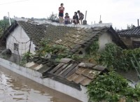 záplavy v S. Koreji